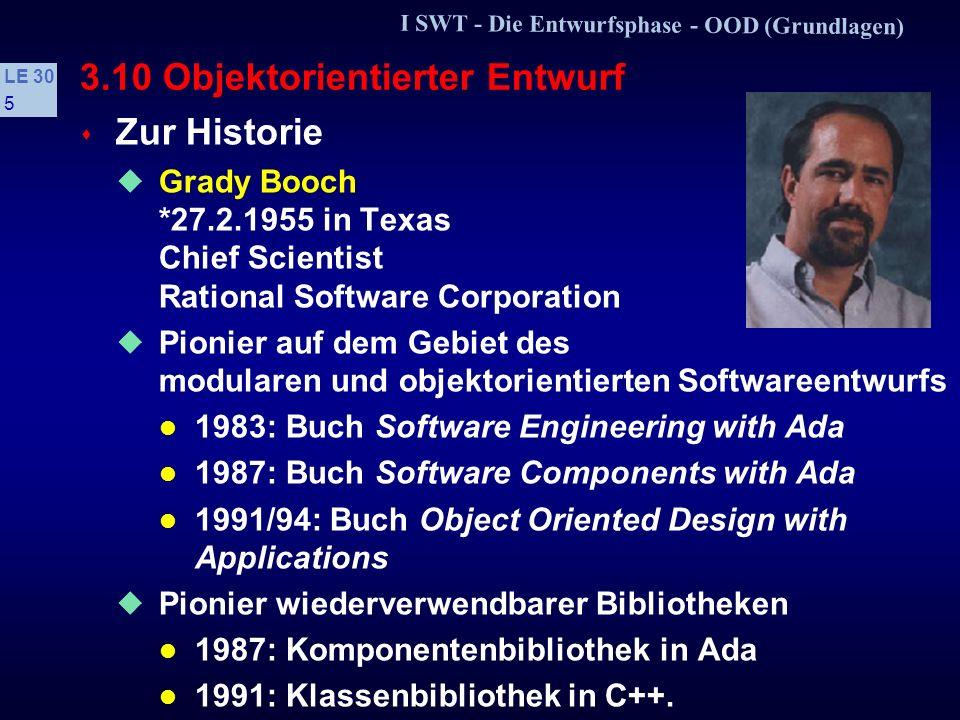 I SWT - Die Entwurfsphase - OOD (Grundlagen) LE 30 65 3.10.4 Entwurfsmuster