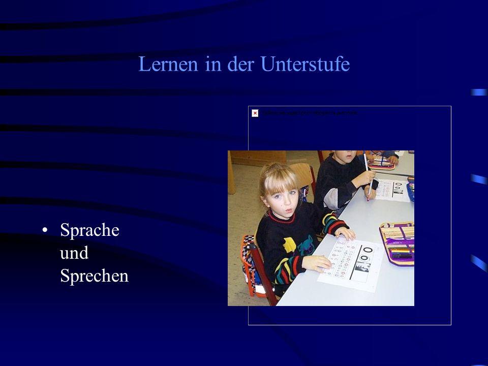 Lernen in der Unterstufe Sprache und Sprechen