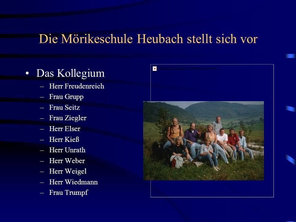 Das Kollegium –Herr Freudenreich –Frau Grupp –Frau Seitz –Frau Ziegler –Herr Elser –Herr Kieß –Herr Unrath –Herr Weber –Herr Weigel –Herr Wiedmann –Fr