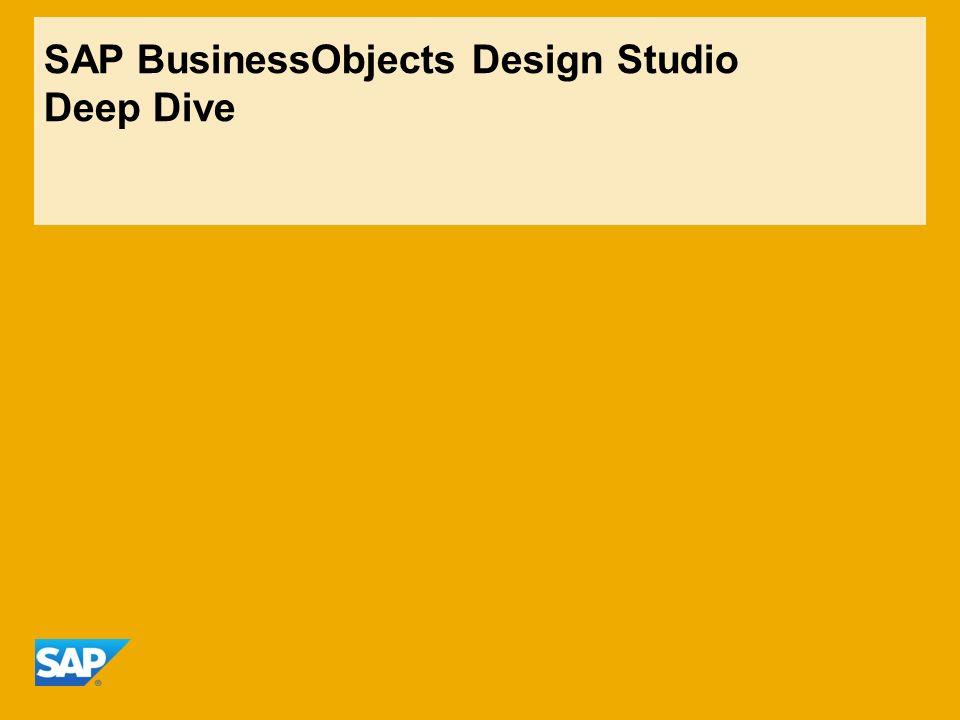 SAP BusinessObjects Design Studio Deep Dive
