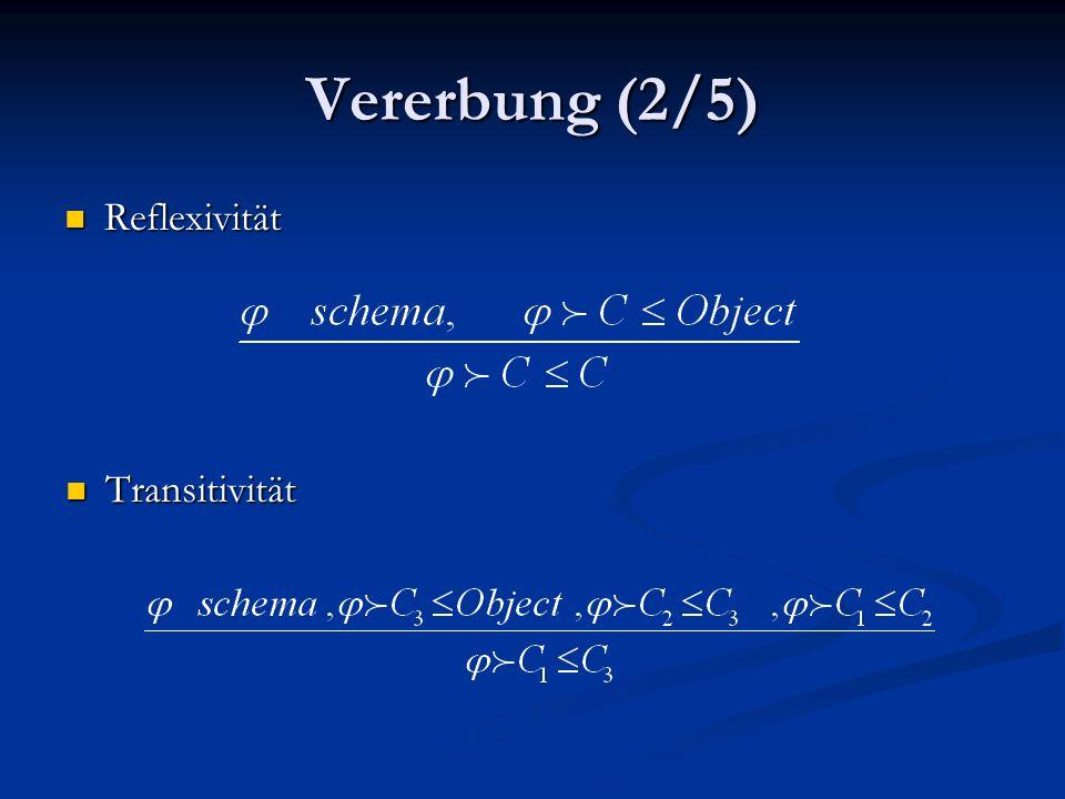 Vererbung (2/5) Reflexivität Reflexivität Transitivität