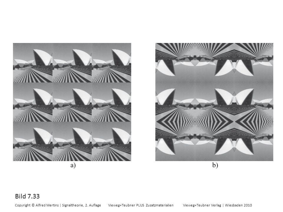Bild 7.33 Copyright © Alfred Mertins | Signaltheorie, 2. Auflage Vieweg+Teubner PLUS Zusatzmaterialien Vieweg+Teubner Verlag | Wiesbaden 2010