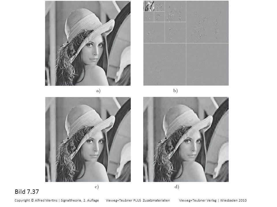 Bild 7.37 Copyright © Alfred Mertins | Signaltheorie, 2. Auflage Vieweg+Teubner PLUS Zusatzmaterialien Vieweg+Teubner Verlag | Wiesbaden 2010