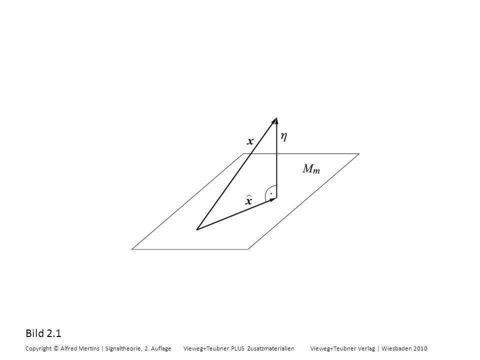 Bild 2.1 Copyright © Alfred Mertins | Signaltheorie, 2. Auflage Vieweg+Teubner PLUS Zusatzmaterialien Vieweg+Teubner Verlag | Wiesbaden 2010