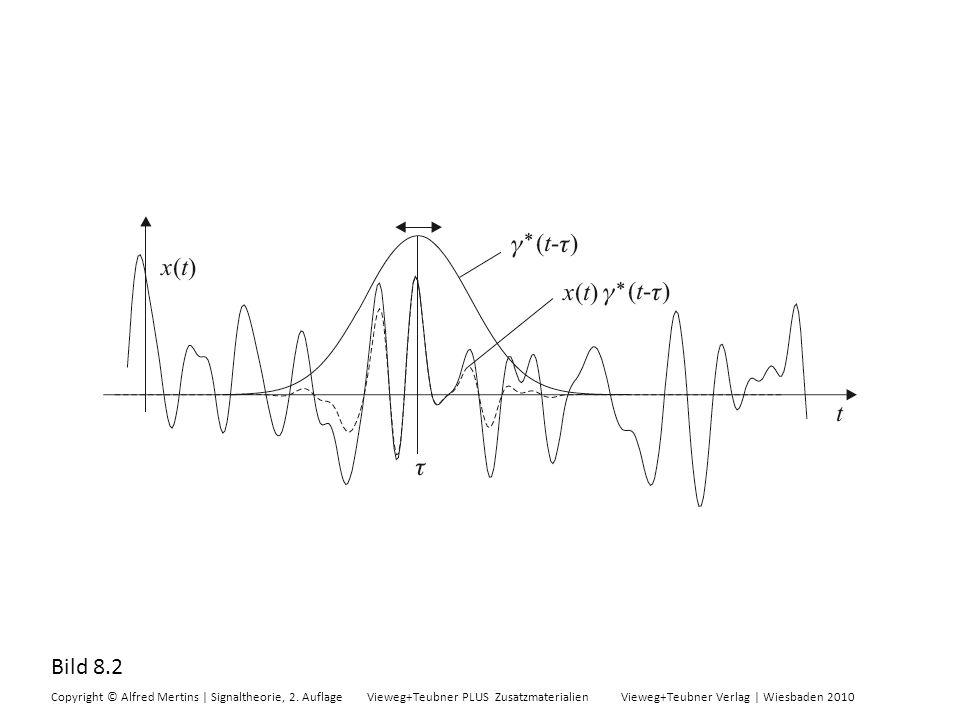 Bild 8.2 Copyright © Alfred Mertins | Signaltheorie, 2. Auflage Vieweg+Teubner PLUS Zusatzmaterialien Vieweg+Teubner Verlag | Wiesbaden 2010