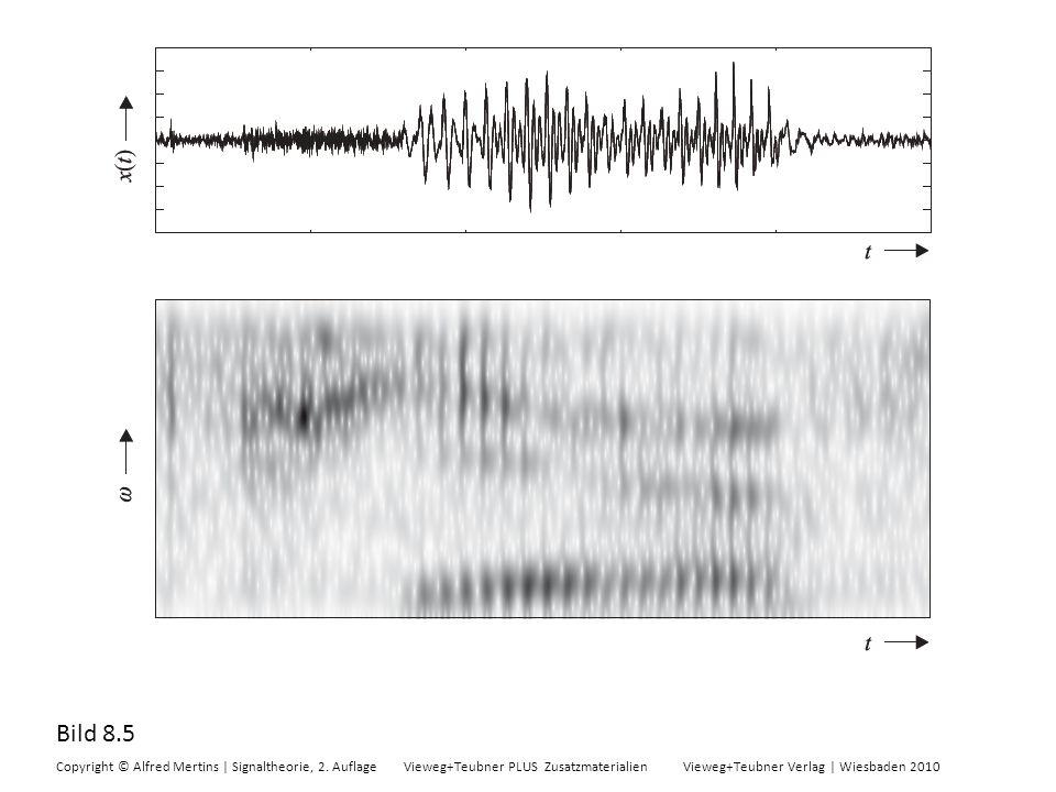 Bild 8.5 Copyright © Alfred Mertins | Signaltheorie, 2. Auflage Vieweg+Teubner PLUS Zusatzmaterialien Vieweg+Teubner Verlag | Wiesbaden 2010