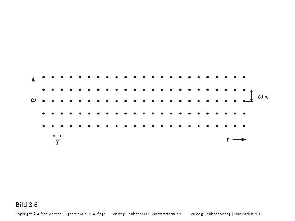 Bild 8.6 Copyright © Alfred Mertins | Signaltheorie, 2. Auflage Vieweg+Teubner PLUS Zusatzmaterialien Vieweg+Teubner Verlag | Wiesbaden 2010