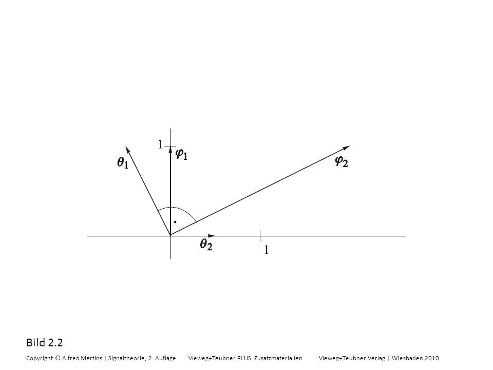 Bild 2.2 Copyright © Alfred Mertins | Signaltheorie, 2. Auflage Vieweg+Teubner PLUS Zusatzmaterialien Vieweg+Teubner Verlag | Wiesbaden 2010