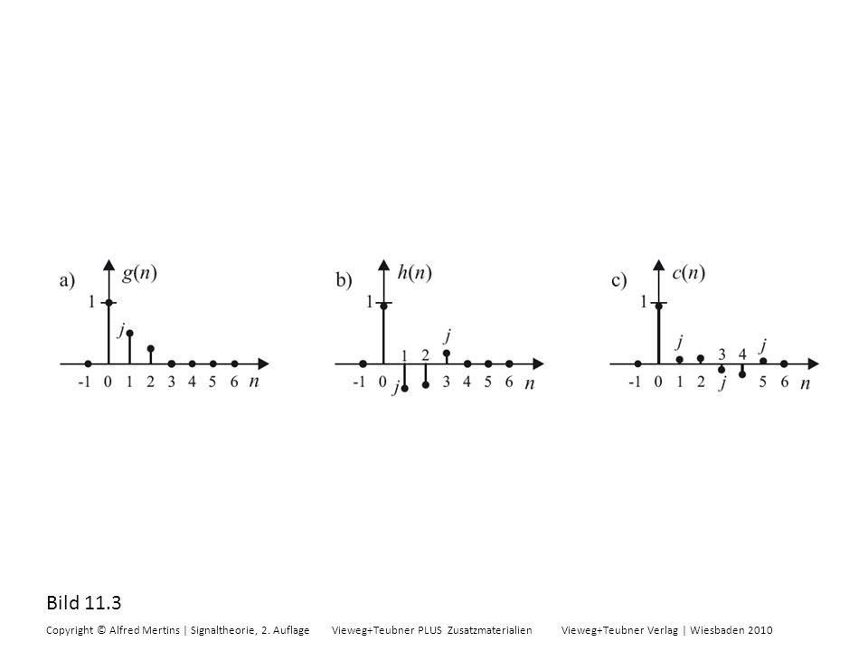 Bild 11.3 Copyright © Alfred Mertins | Signaltheorie, 2. Auflage Vieweg+Teubner PLUS Zusatzmaterialien Vieweg+Teubner Verlag | Wiesbaden 2010