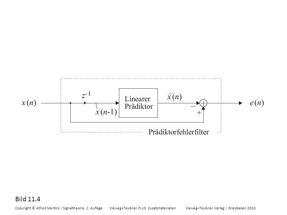 Bild 11.4 Copyright © Alfred Mertins | Signaltheorie, 2. Auflage Vieweg+Teubner PLUS Zusatzmaterialien Vieweg+Teubner Verlag | Wiesbaden 2010