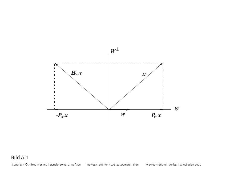 Bild A.1 Copyright © Alfred Mertins | Signaltheorie, 2. Auflage Vieweg+Teubner PLUS Zusatzmaterialien Vieweg+Teubner Verlag | Wiesbaden 2010