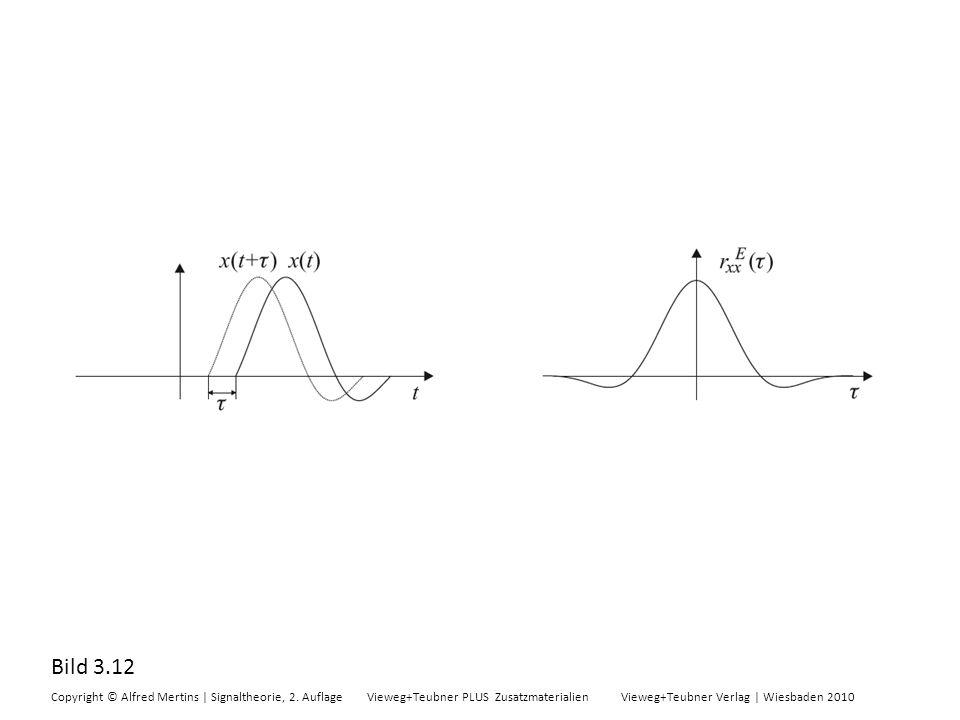 Bild 3.12 Copyright © Alfred Mertins | Signaltheorie, 2. Auflage Vieweg+Teubner PLUS Zusatzmaterialien Vieweg+Teubner Verlag | Wiesbaden 2010