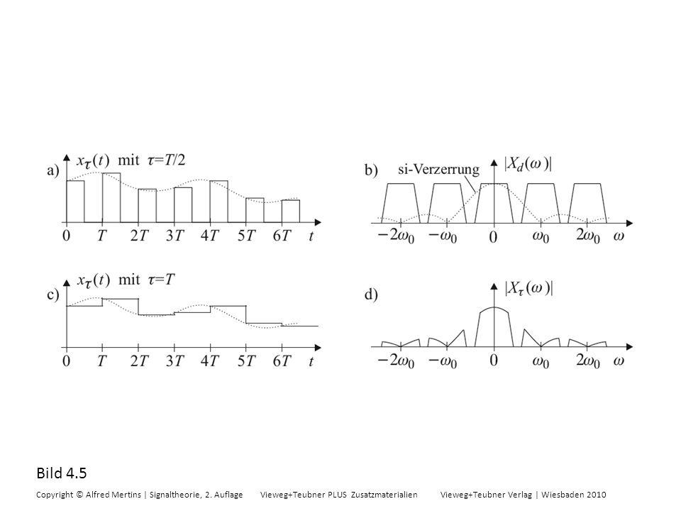 Bild 4.5 Copyright © Alfred Mertins | Signaltheorie, 2. Auflage Vieweg+Teubner PLUS Zusatzmaterialien Vieweg+Teubner Verlag | Wiesbaden 2010