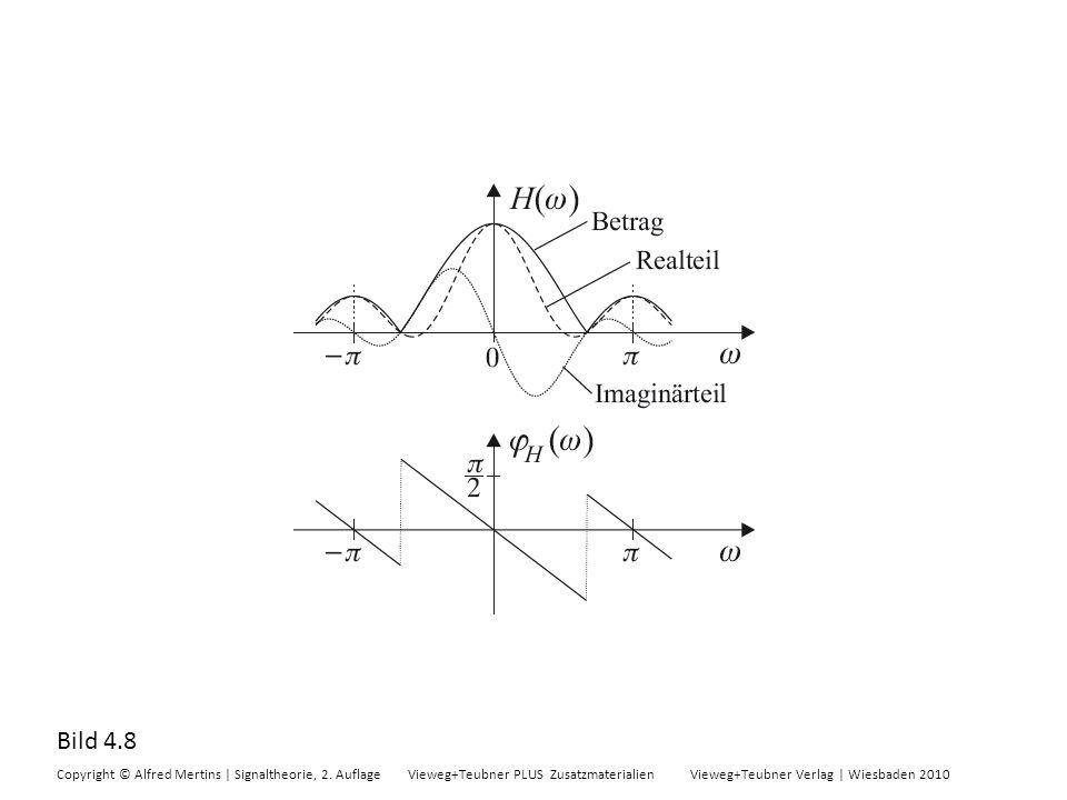 Bild 4.8 Copyright © Alfred Mertins | Signaltheorie, 2. Auflage Vieweg+Teubner PLUS Zusatzmaterialien Vieweg+Teubner Verlag | Wiesbaden 2010