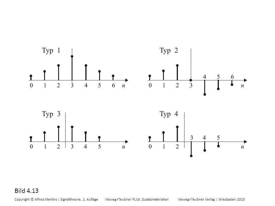 Bild 4.13 Copyright © Alfred Mertins | Signaltheorie, 2. Auflage Vieweg+Teubner PLUS Zusatzmaterialien Vieweg+Teubner Verlag | Wiesbaden 2010