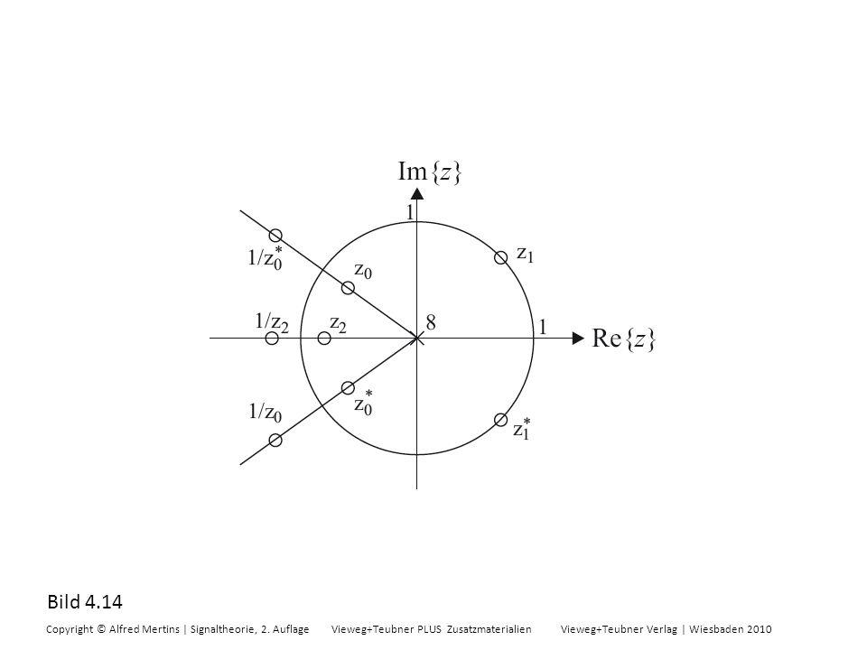 Bild 4.14 Copyright © Alfred Mertins | Signaltheorie, 2. Auflage Vieweg+Teubner PLUS Zusatzmaterialien Vieweg+Teubner Verlag | Wiesbaden 2010