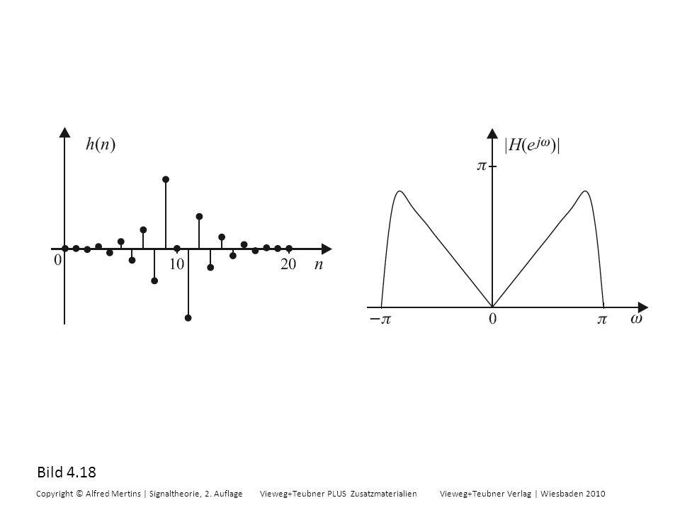 Bild 4.18 Copyright © Alfred Mertins | Signaltheorie, 2. Auflage Vieweg+Teubner PLUS Zusatzmaterialien Vieweg+Teubner Verlag | Wiesbaden 2010
