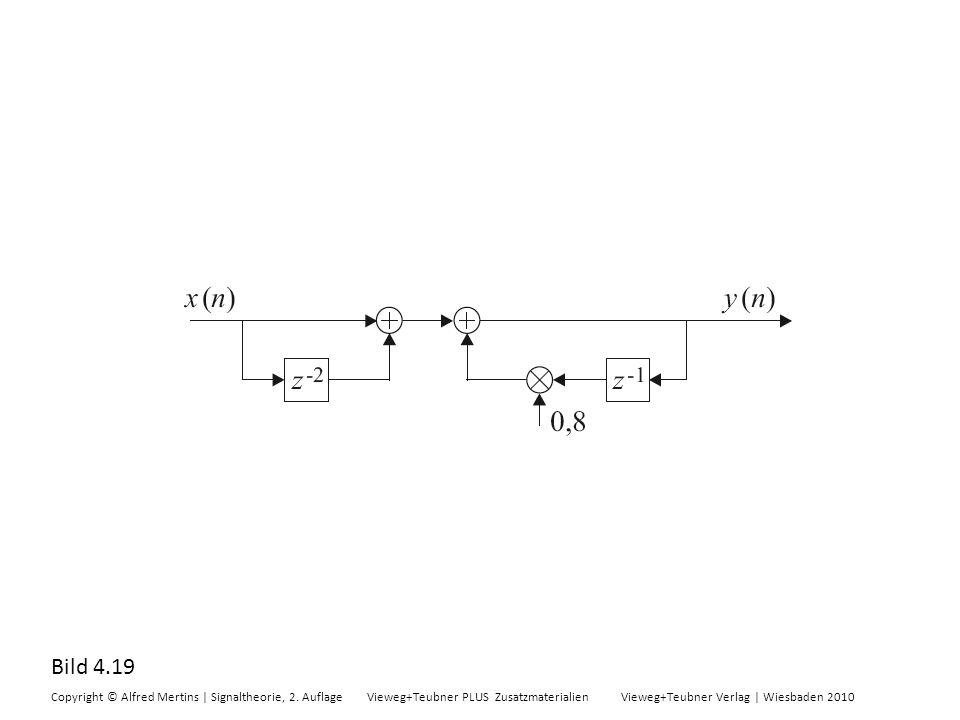 Bild 4.19 Copyright © Alfred Mertins | Signaltheorie, 2. Auflage Vieweg+Teubner PLUS Zusatzmaterialien Vieweg+Teubner Verlag | Wiesbaden 2010