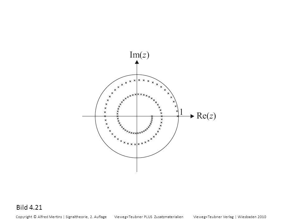 Bild 4.21 Copyright © Alfred Mertins | Signaltheorie, 2. Auflage Vieweg+Teubner PLUS Zusatzmaterialien Vieweg+Teubner Verlag | Wiesbaden 2010