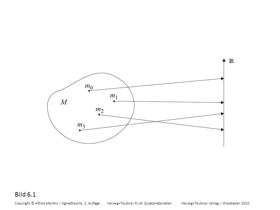 Bild 6.1 Copyright © Alfred Mertins | Signaltheorie, 2. Auflage Vieweg+Teubner PLUS Zusatzmaterialien Vieweg+Teubner Verlag | Wiesbaden 2010