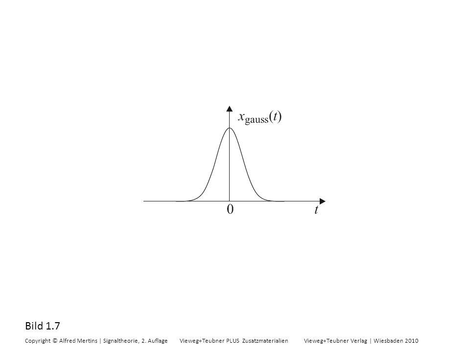 Bild A.1 Copyright © Alfred Mertins | Signaltheorie, 2.