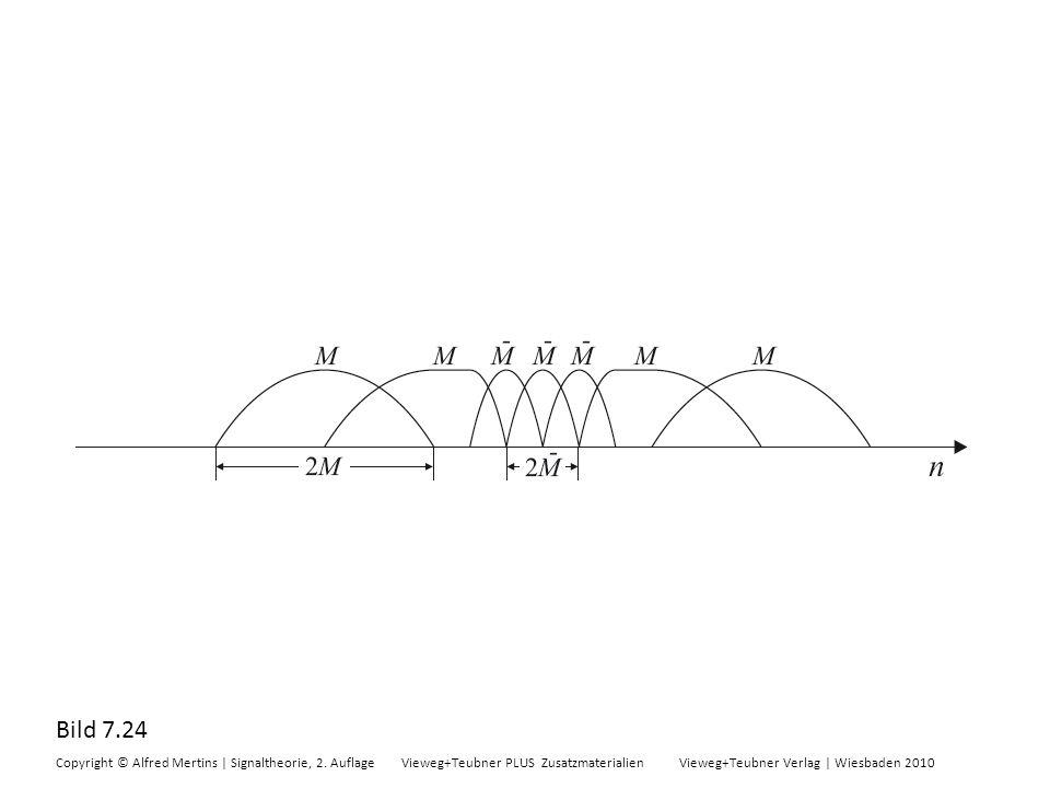 Bild 7.24 Copyright © Alfred Mertins | Signaltheorie, 2. Auflage Vieweg+Teubner PLUS Zusatzmaterialien Vieweg+Teubner Verlag | Wiesbaden 2010