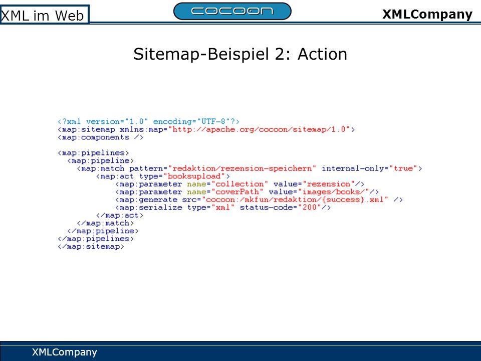 XMLCompany XML im Web XMLCompany Sitemap-Beispiel 2: Action