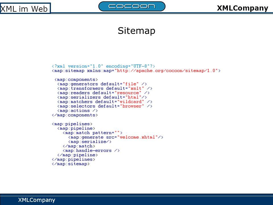 XMLCompany XML im Web XMLCompany Sitemap-Beispiel 1: XMLDB-Generator