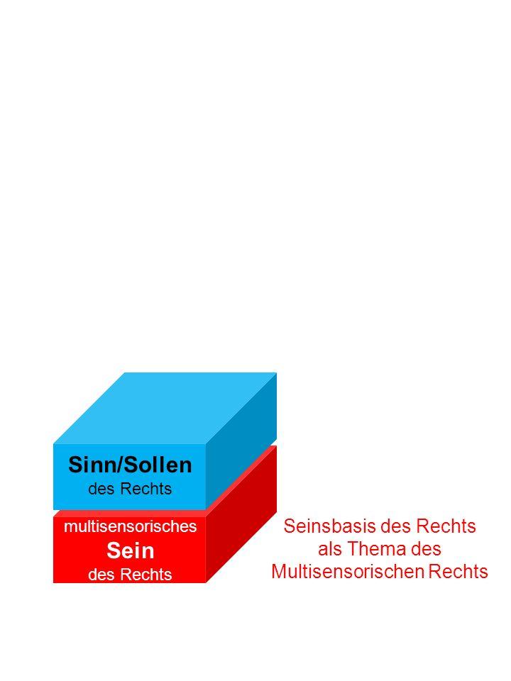 Seinsbasis des Rechts als Thema des Multisensorischen Rechts multisensorisches Sein des Rechts Sinn/Sollen des Rechts