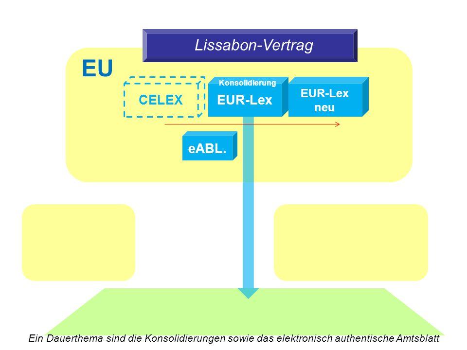 Lissabon-Vertrag EUR-Lex CELEX EUR-Lex neu eABL.
