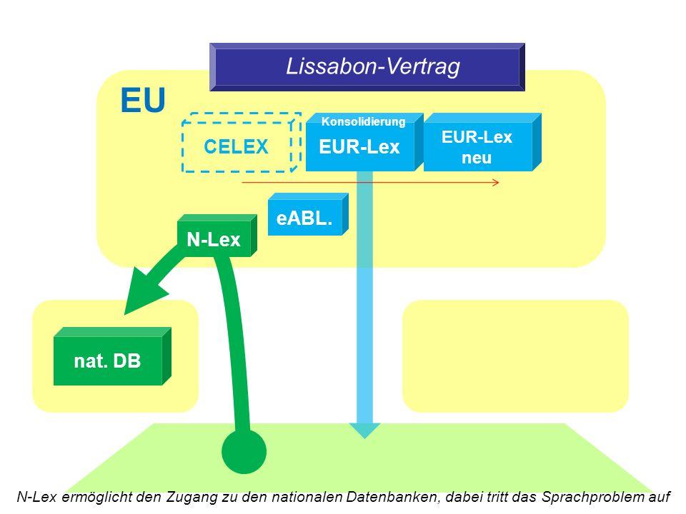 Lissabon-Vertrag nat. DB EUR-Lex CELEX EUR-Lex neu eABL.