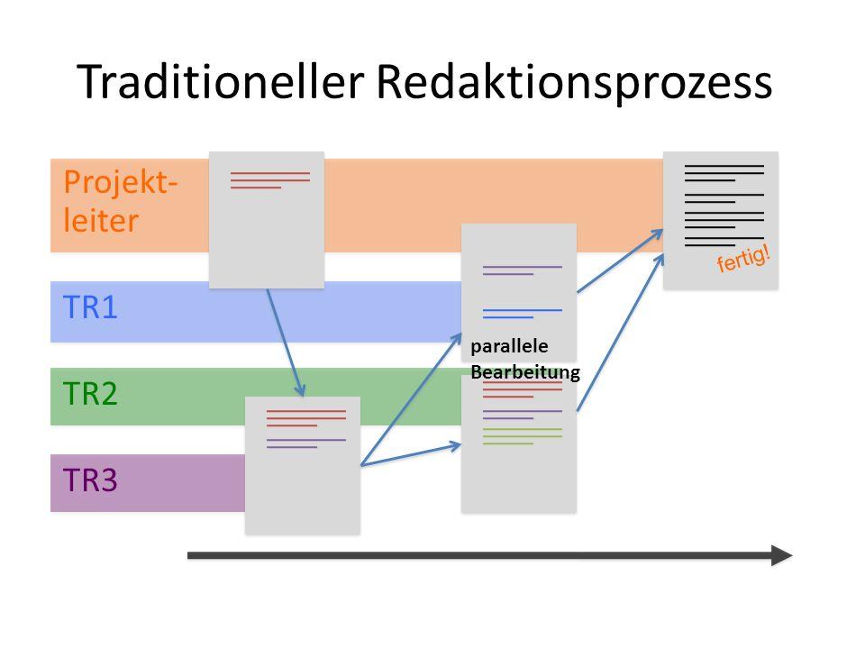 Bearbeitungszeiten Projekt- leiter TR1 TR2 TR3 fertig.