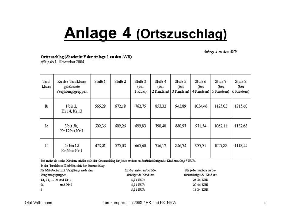 Olaf WittemannTarifkompromiss 2008 / BK und RK NRW5 Anlage 4 (Ortszuschlag)