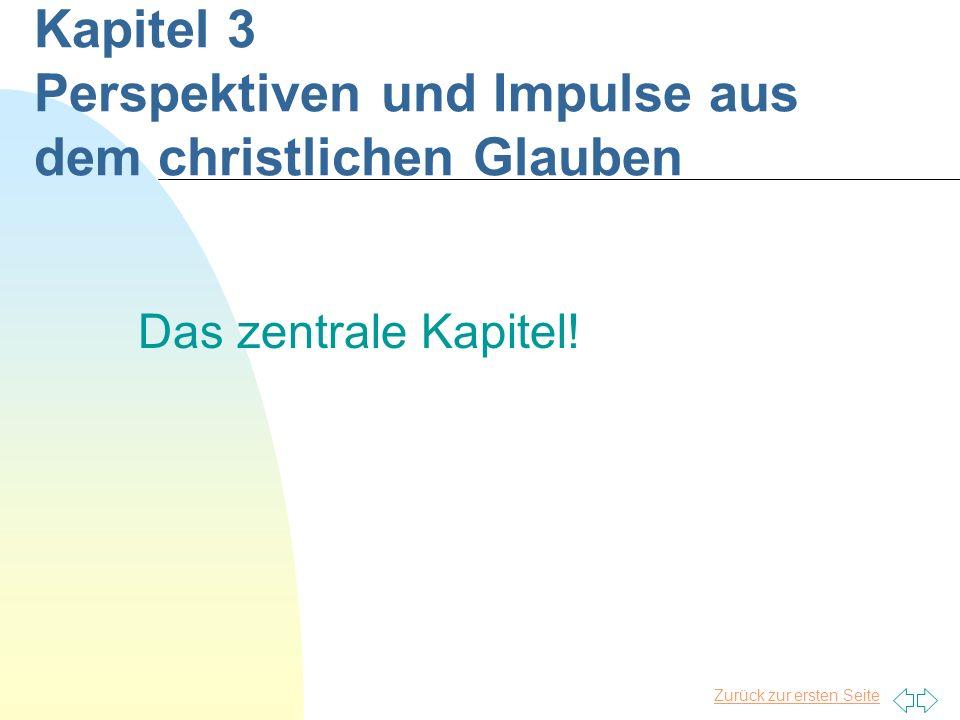 Zurück zur ersten Seite Kapitel 3 Perspektiven und Impulse aus dem christlichen Glauben Das zentrale Kapitel!