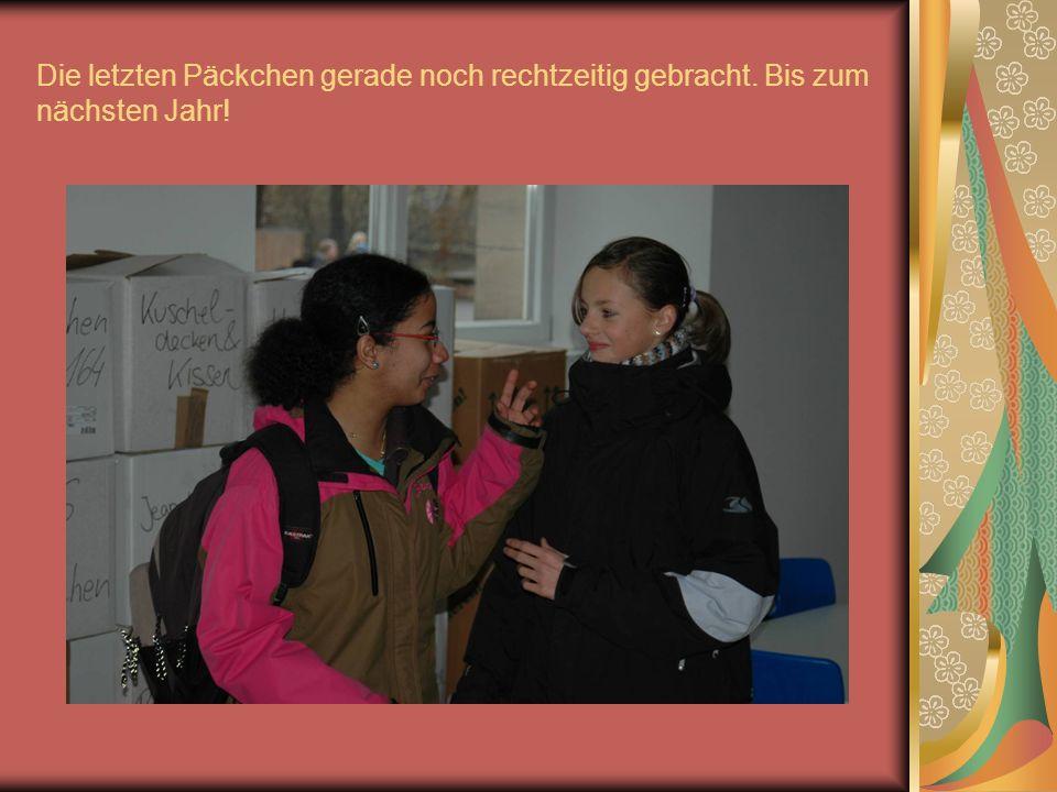 Monika Keresztúri darf sich über ihr Weihnachtsgeschenk freuen.