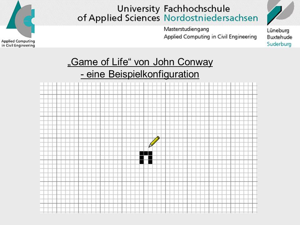 Game of Life von John Conway - eine Beispielkonfiguration