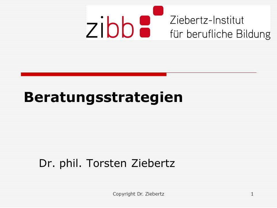 Copyright Dr. Ziebertz1 Beratungsstrategien Dr. phil. Torsten Ziebertz