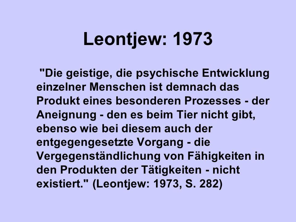 Leontjew: 1973