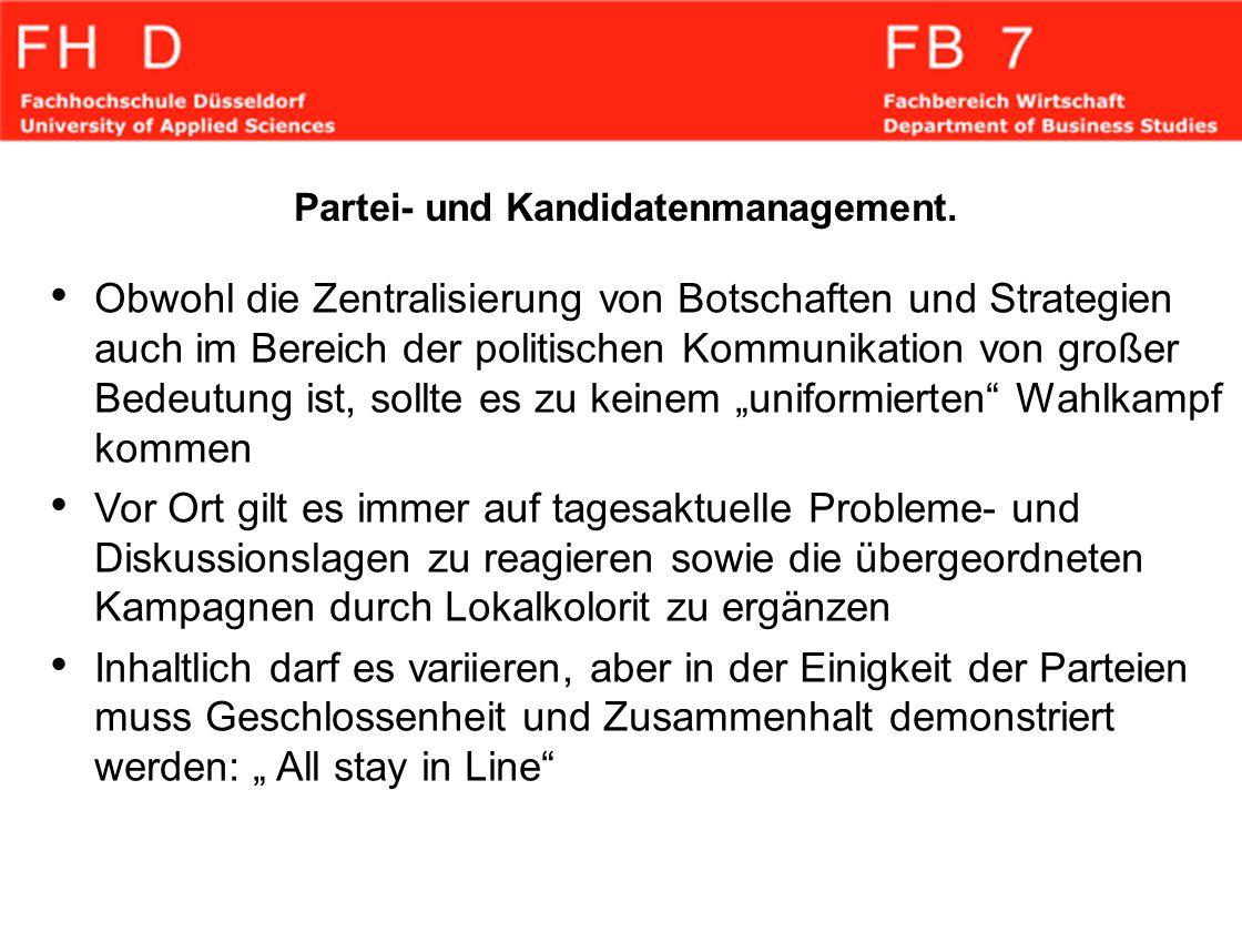 Partei- und Kandidatenmanagement.