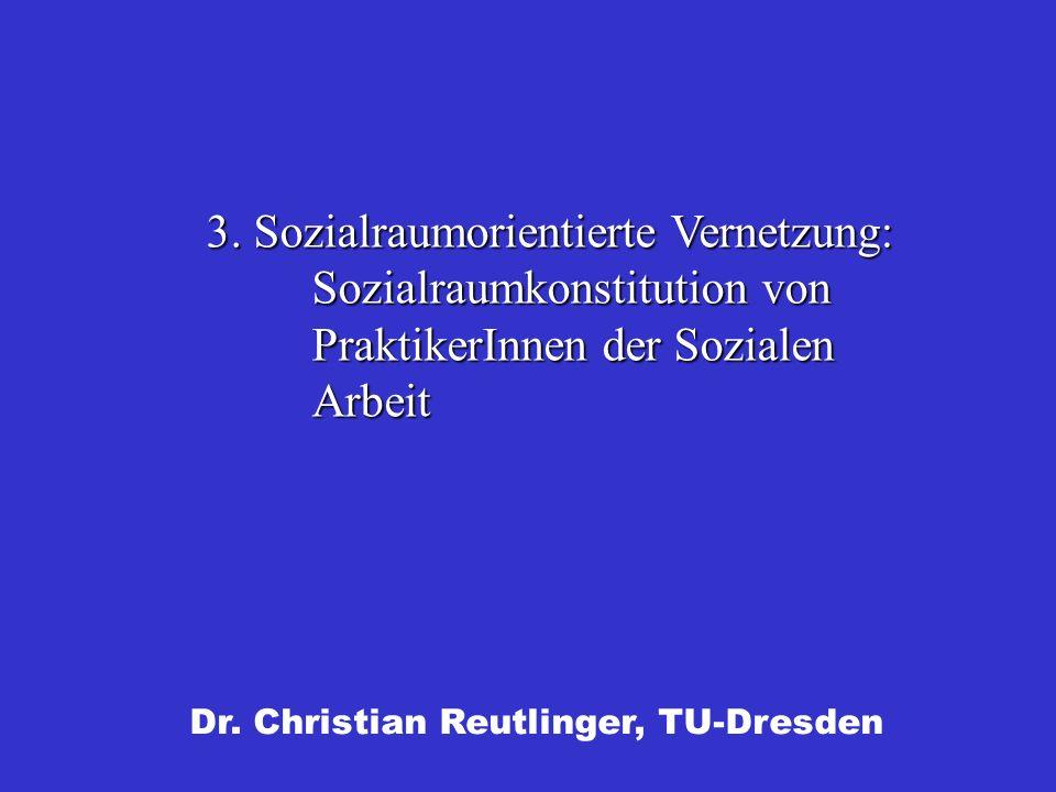3. Sozialraumorientierte Vernetzung: Sozialraumkonstitution von PraktikerInnen der Sozialen Arbeit