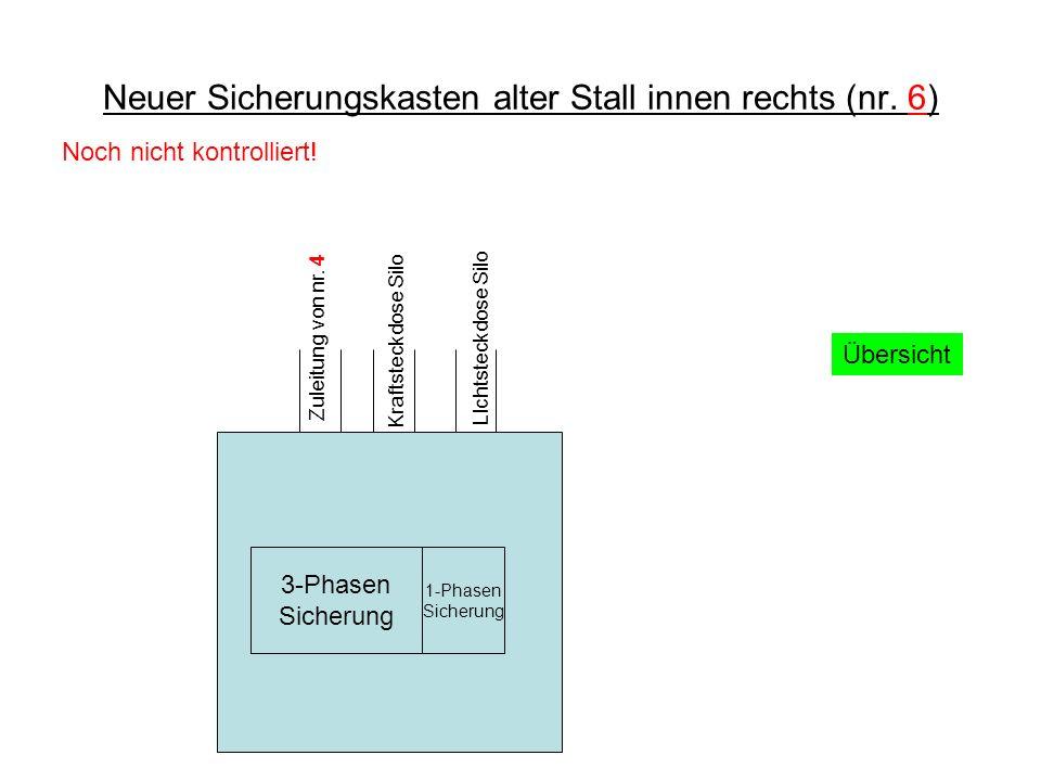 Neuer Sicherungskasten alter Stall innen rechts (nr.