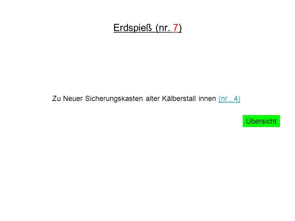 Erdspieß (nr. 7) Zu Neuer Sicherungskasten alter Kälberstall innen (nr. 4)(nr. 4) Übersicht