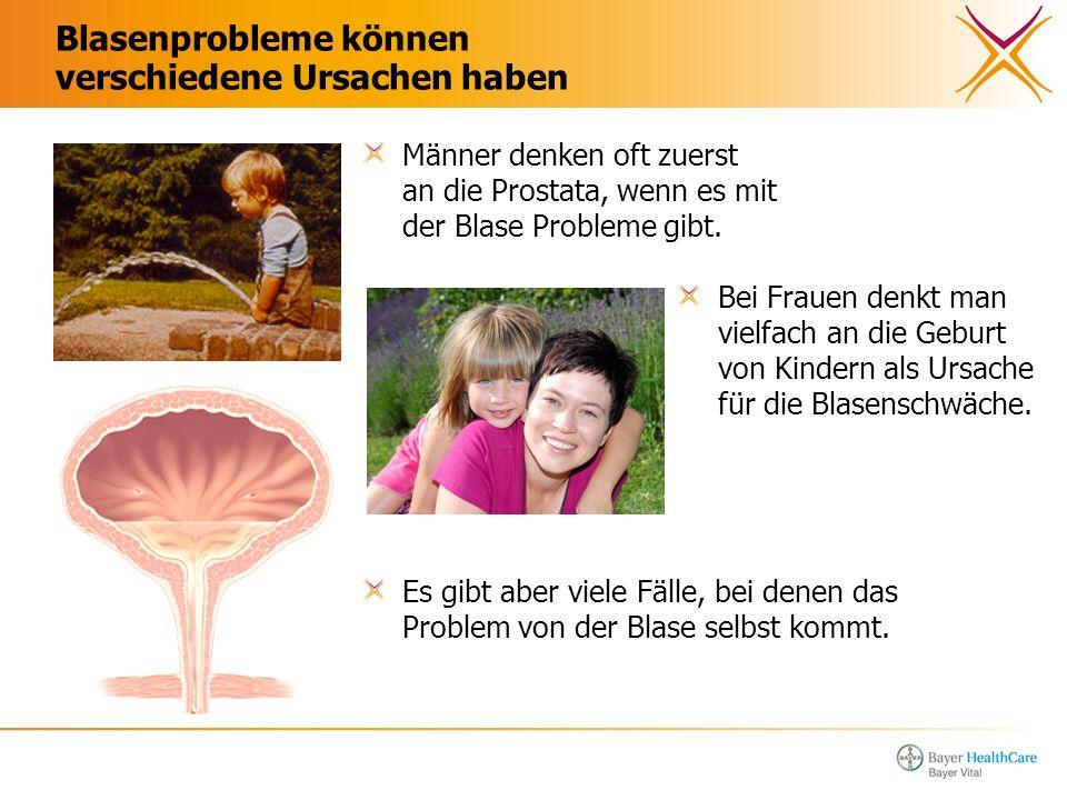 Blasenprobleme können verschiedene Ursachen haben Bei Frauen denkt man vielfach an die Geburt von Kindern als Ursache für die Blasenschwäche. Männer d