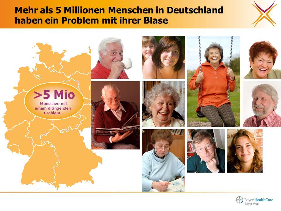 Mehr als 5 Millionen Menschen in Deutschland haben ein Problem mit ihrer Blase >5 Mio Menschen mit einem drängenden Problem...