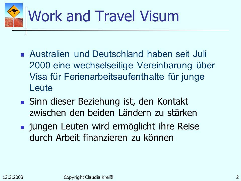 Australien 2007 Work- and Travel-Visum