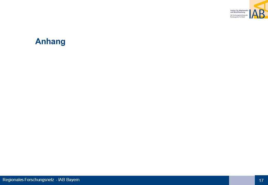 Regionales Forschungsnetz - IAB Bayern 17 Anhang