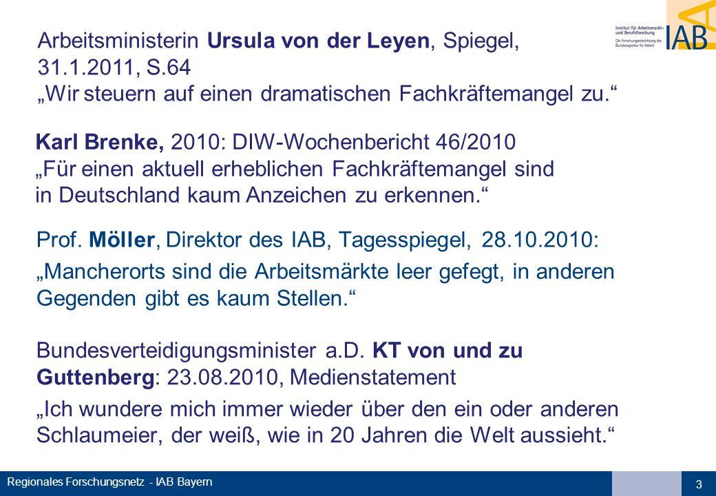 Regionales Forschungsnetz - IAB Bayern Bundesverteidigungsminister a.D. KT von und zu Guttenberg: 23.08.2010, Medienstatement Ich wundere mich immer w
