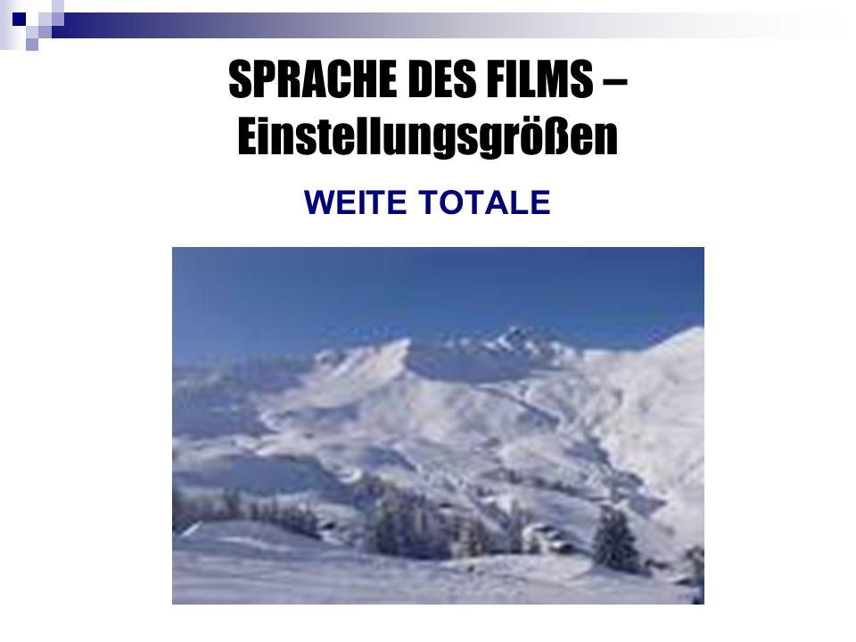 SPRACHE DES FILMS – Einstellungsgrößen WEITE TOTALE