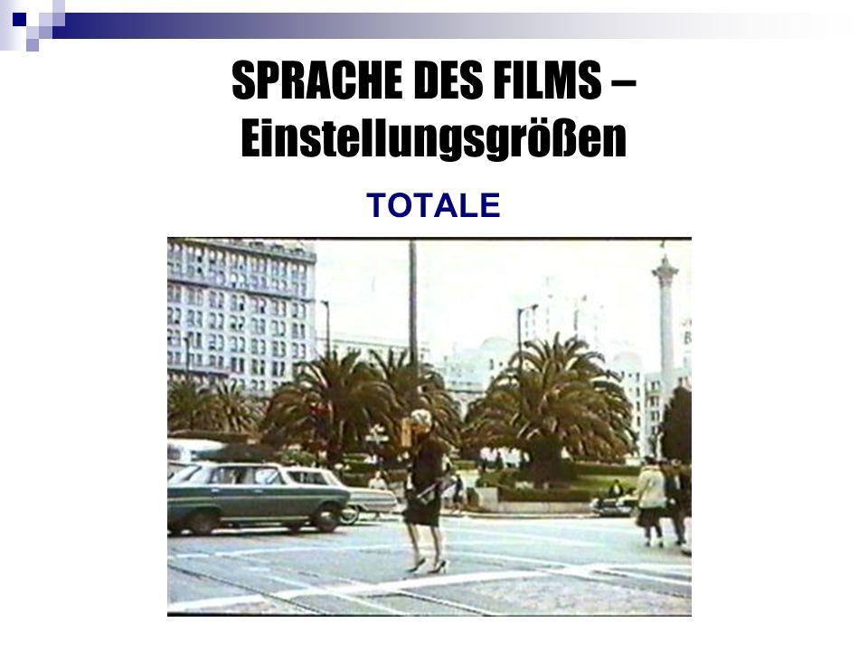SPRACHE DES FILMS – Einstellungsgrößen TOTALE