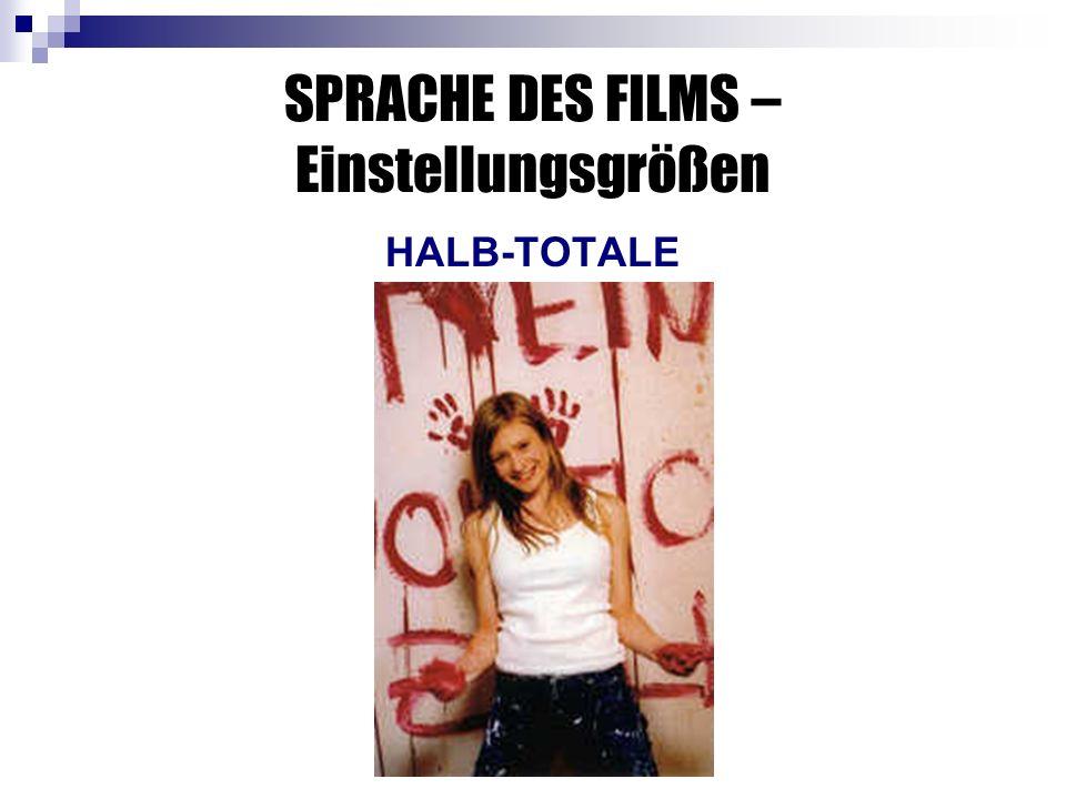 SPRACHE DES FILMS – Einstellungsgrößen HALB-TOTALE